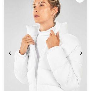 NWOT White Fabletics puffer coat!
